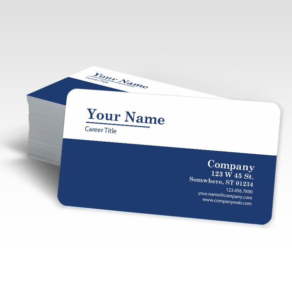 Rounded Corner Business Card Comprint